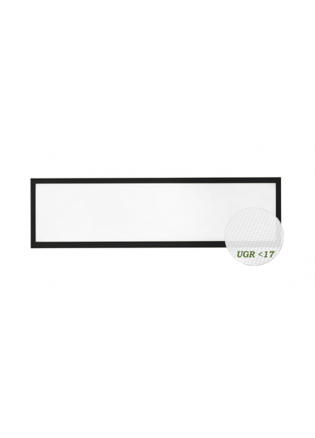 LED PANEEL 36W 120X30CM ZWART
