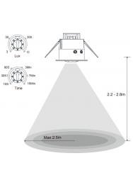 BEWEGINGSMELDER INBOUW 360° IP20 WIT