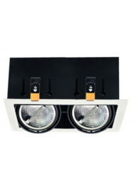 LED INBOUW KARDAN 2200-2800K 15W 36GR ZWART OF WIT