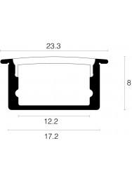 Alupro Curve LED profiel inbouw 8mm