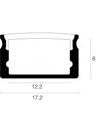 Alupro Curve LED profiel opbouw 8mm