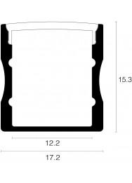 Alupro Curve LED profiel opbouw 15mm