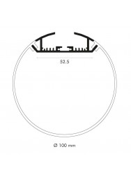 Alupro Round profiel 100mm